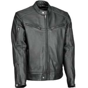 RIVER ROAD MUSKOGEE COOL LEATHER JACKET (BLACK