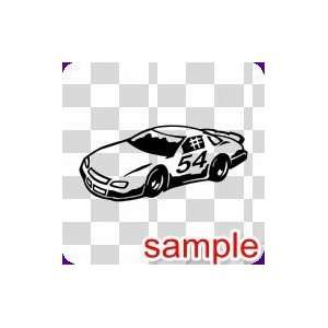CARS RACING CAR 10 WHITE VINYL DECAL STICKER Everything