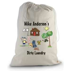 Pen At Hand Stick Figures   Laundry Bag (Camp)