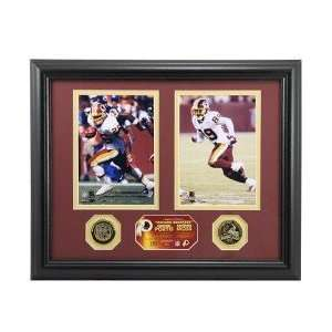 Moss/Clinton Portis Record Breakers Photomint