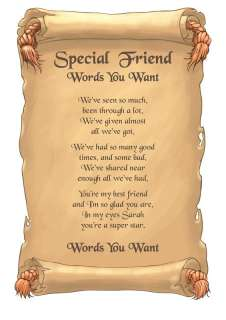 Special Friend Survival Personalised Poem Gift