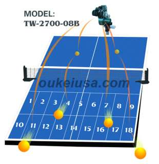 Table Tennis Robot Oukei TW2700 08B New Version