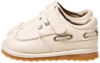 Boys Infant Toddler Leather Squeaky Shoes Cream / Beige