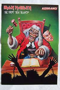 IRON MAIDEN   EDDIE AS JUDGE   1st 10 Years   Magazine Poster