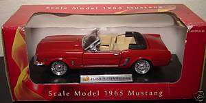 24 Scale 1965 Red Ford Mustang DAYTON HUDSON 1998
