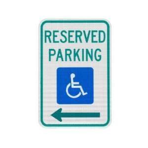 Elderlee, Inc. 9212.78 Handicapped Parking Sign, Reserved Parking with