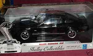 2007 FORD MUSTANG SHELBY GT500 COUPE BLACK/SILVER 1/18