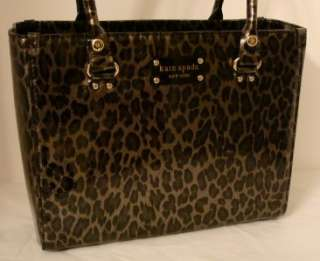 NEW Kate Spade Wellesley Quinn Animal Patent Leather Handbag Tote NWT