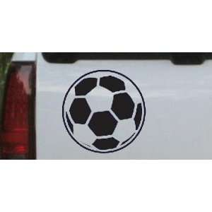 Navy 22in X 22.0in    Soccer Ball Sports Car Window Wall Laptop Decal