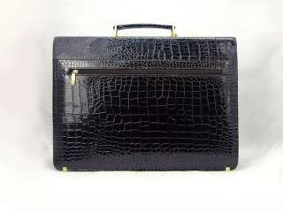 Mens fashion & classical leather handbag crocodile alligator head big