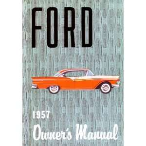 1957 FORD Car Full Line Owners Manual User Guide