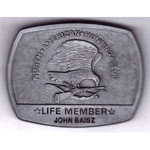 Used Belt Buckle, North American Hunting Club
