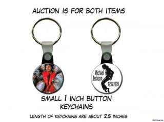 MICHAEL JACKSON Thriller   set of 2 Key Chains