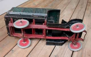 ANTIQUE Vintage Toy Pressed Steel Buddy L Screen Side Railway Express