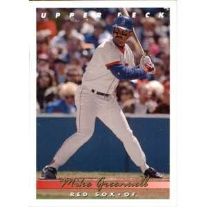 1992 UPPER DECK Mike Greenwell # 154