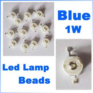 50 Pcs High Power Blue 1W Led Lamp Beads 80~90 Lm