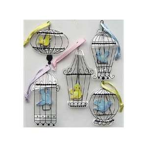 Parcel Dimensional Stickers Vintage Bird Cages Arts, Crafts & Sewing
