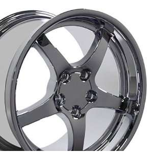 C5 Deep Dish Style Chrome Wheels Fits Camaro Corvette   Chrome Set of