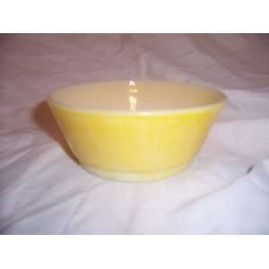 Vintage 1960s Fire King Yellow Cereal Bowl