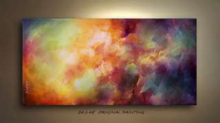 PAINTING ART ABSTRACT MODERN Contemporary DECOR Michael Lang certified