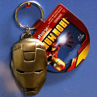 IRON MAN KEY CHAIN RING METAL NEW MARVEL IRON MAN SUPER
