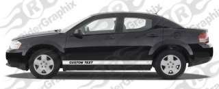 2008 Dodge Avenger Rocker Panel Stripes