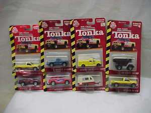 of 8 Tonka Diecast 1/64 Truck Trailers Dodge Ford Jeep Mint On Card