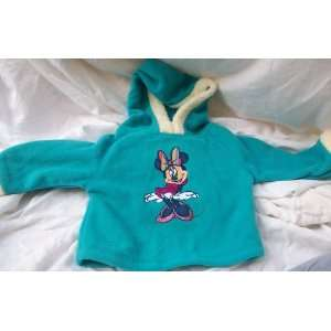 Disney Minnie Mouse, Girl Size 12 Months, Fleece Hooded Shirt, Great