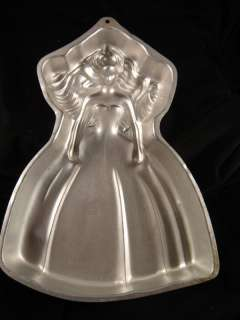 Barbie Doll Girl Cake Pan Party Birthday Wilton Princess Prom Dress