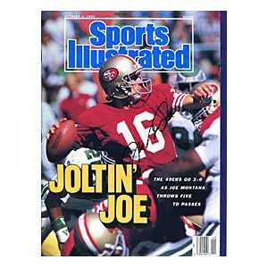 Joe Montana Autographed / Signed Sports Illustrated Magazine   October