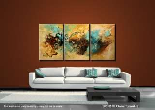 LARGE Original abstract art Modern painting on canvas NATURAL COLORS