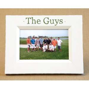 hand painted picture frame   the guys