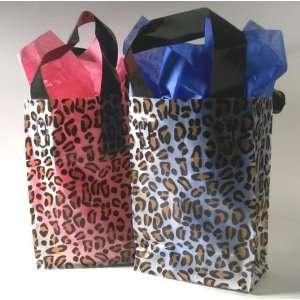 10 Leopard Print Plastic Birthday Party Favors Bridal Shower Gift Bags
