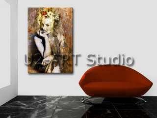 oil painting abstract art thick texture paints (Marilyn Monroe) 24x36