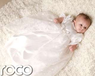 Baby Girls Christening Gowns White Ivory Vintage Traditional Baptism