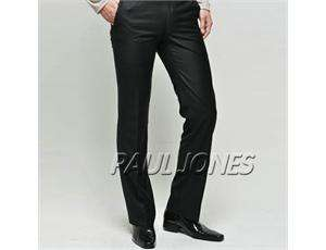 Business Formal Slim Fit tailored Suit, Pants & Blazer Black
