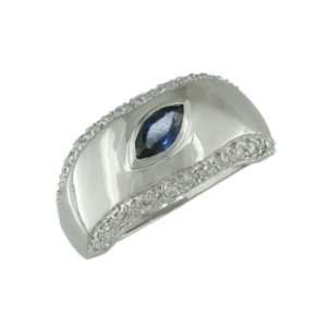 Brookline 14K White Gold Sapphire & Diamond Ring Jewelry