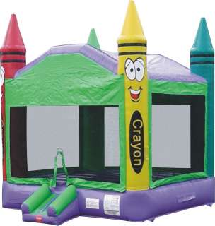 Commercial Inflatable Crayon Bounce House Jumping Castle Bouncer