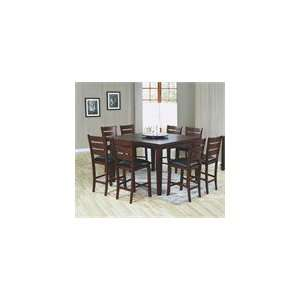 Pub Table with Lazy Susan & 8 Bar Chairs   9 Pc Set