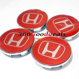RED EMBLEM WHEEL CENTER CAP HONDA ACCORD CIVIC ODYSSEY RIDGELINE PILOT