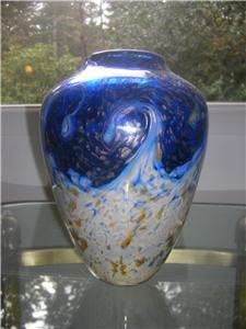 Bryce Dimitruk Starry Night Vines Art Studio Glass Vase