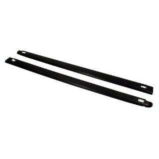 Black Ribbed Finish Truck Bed Rail Caps with Stake Holes   2 Piece