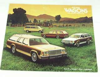 1979 79 FORD STATION WAGON BROCHURE LTD Pinto Club