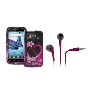 Hearts with Flowers) + Hot Pink 3.5mm Stereo Headphones [EMPIRE