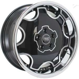 Concept One Dynasty 18x8 Black Wheel / Rim 5x4.5 with a 40mm Offset