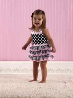 Mud Pie Ribbon Ruffle Sundress Outfit Set Pageant Casual Wear 2 3T