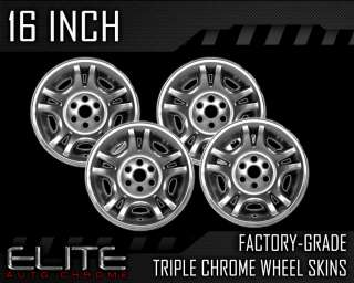 2001 2004 Dodge Dakota 16 Chrome Wheel Skin Covers