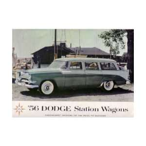 1956 DODGE STATION WAGON Sales Brochure Literature Book Automotive