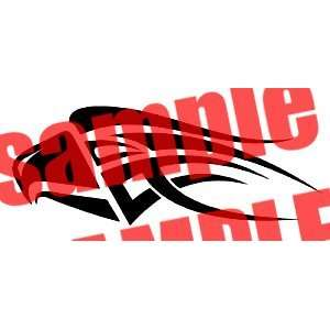 EAGLE HEAD BLADE TRIBAL WHITE VINYL DECAL STICKER