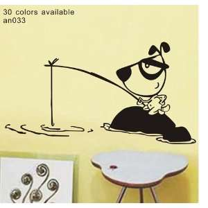 Large  Easy instant decoration wall sticker decor  fishing